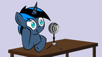 Me and my Mic (WIP) by ThatFatBrony