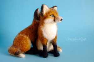 red fox kits by SaniAmaniCrafts
