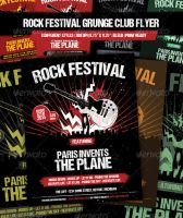 Rock Festival - Grunge club show flyer by JamesRuthless