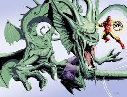 Fin Fang Foom with color by TGping