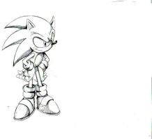 pencil new style sonic by trunks24