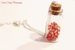 Jar of Miniature Candy Canes by CharmStop