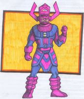 Galactus in markers by Underbase