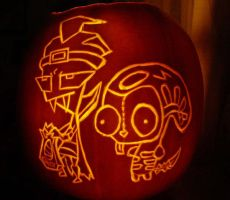 Invader Zim Pumpkin Carving by DistantVisions