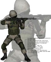 Soldier AK-107 3D test by Dangerman-1973