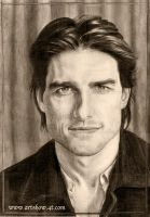 Pencil Drawing of Tom Cruise by badrluna