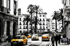 Yellow Taxi Tetouan by Hamdan-Graphics