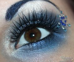 Sailor Mercury inspired make up by Talasia85