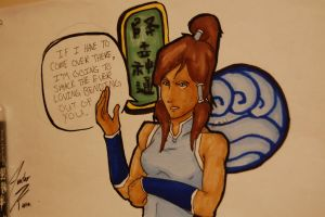 Korra in copics by witchiamwill