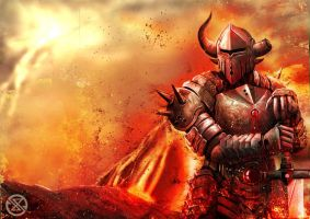 lava knight by legowosnake