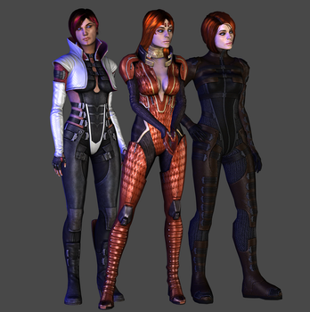 Aria, Morinth and Samara (Human) DL by TheRaiderInside
