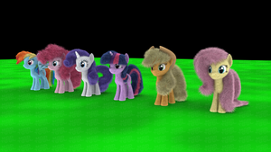 My Little Fluffies - Family by VeryOldBrony