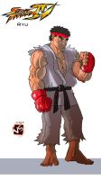 Ryu - Street Fighter 4 by FanWrks