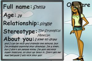 My application for Total Drama Reality by TotaldramaStell