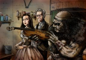 Frankenstein And The Monster From Hell by Loneanimator