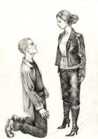 Buffy and Spike by Smileyrunner