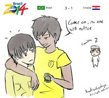 Brazil2014 - Brazil vs Croatia = Fraud by ArantxaCosplayer