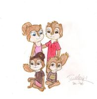 Alvin's Future Family Request by Turtlegirl5
