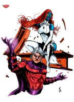 Magneto and Mystique by mattgoodall