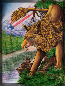 Art Final: Gryphon by fenderbender368
