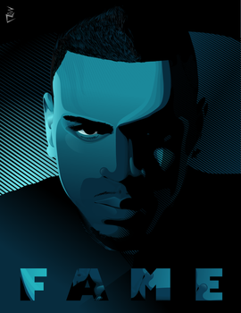 F A M E: Chris Brown Vector by renerz