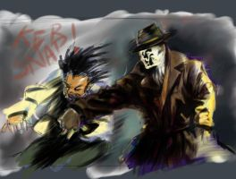 Rorschach: painter sketchy sketch by ADE-doodles