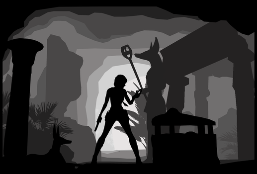Tomb Raider IV - Silhouette Art by ReD8ull