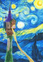 Tangled-Starry Night by Xijalle