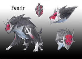 Fenrir reference sheet by BrightObject