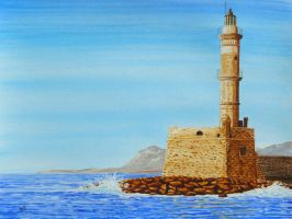 The lighthouse at Chania by Lord-Makro