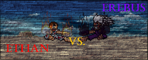 Ethan VS Erebus Epic Fights Series Poster by EnteiTheHedgehog