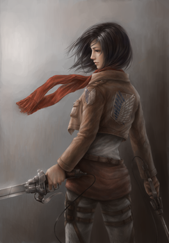 Mikasa Ackerman - Attack On Titan by JxbP