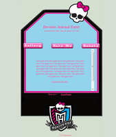 MONSTER HIGH Journal Skin for PlayfulDead by KyojiWinter