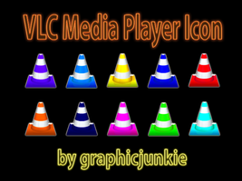 VLC Media Player Glass Icons by graphicjunkie