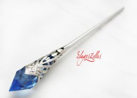 Blue fantasy style hair stick by Benia1991