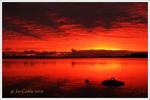 Crazy Red Sky by JonGoldie