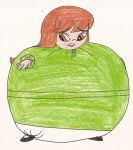 Request - Little girl in green dress inflated by Magic-Kristina-KW