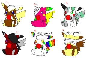 6 Point/Free Pika Adopts CLOSED by MimiTheFox