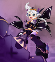 Lime 2nd job suggestion! -Paladin's Darkness set- by Cakeeecrazy