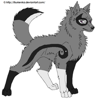 Yin-Yang Wolf adoptable CLOSED by HaloneWolf