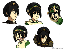Toph, at various ages by themathemusician