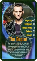 TOP TRUMPS 9th DOCTOR WHO Card by njr75003