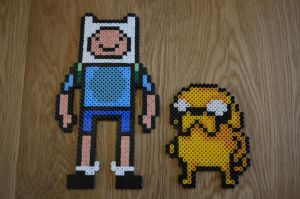 Finn and Jake Hama Beads by sophiemai