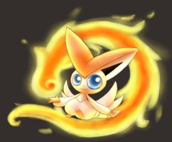 Victini by Meneil666