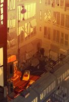 Late Summer In The City by PascalCampion