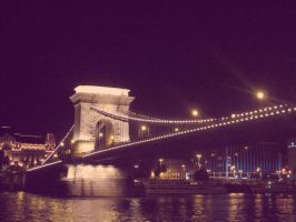 Chain Bridge at Night by Lynx-Pardina
