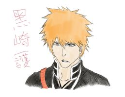 Ichigo Kurosaki failed sketch-colored by PeachBerryDivision