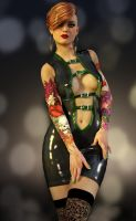 Latex and tattoos by Roy3D