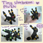 Tiny Umbreon plush by SilkenCat