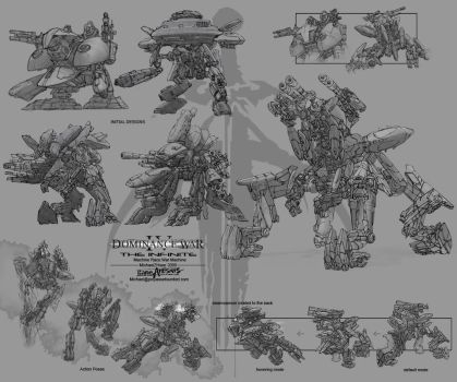 Dominance war concept sheets by kerko
